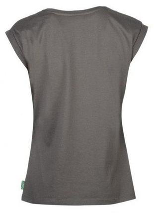 Женская футболка kickers print t shirt ladies grey 8 (s) оригинал4
