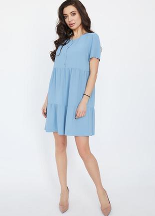 Блакитна літня міні-сукня | 44984