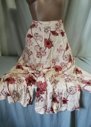 Натуральная юбка принт