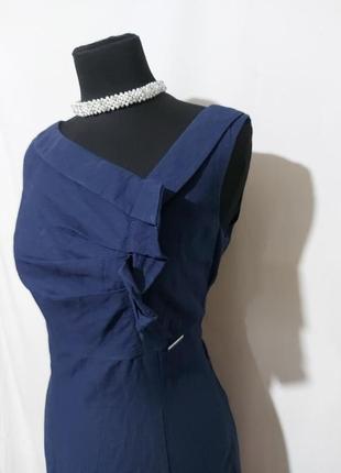 Красивенное платье по фигуре(лен+хлопок)