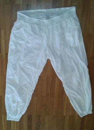 Тончайшие легкие свободные х/б брюки большого 48-50 разм.