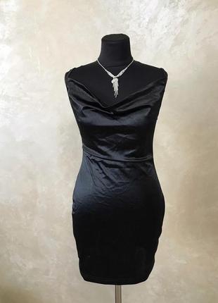Плаття платье атласне