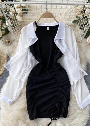 Комплект (платье+рубашка)