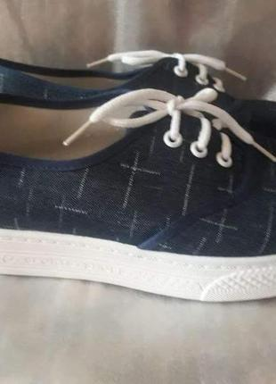Туфли джинсовые,по ст.25см