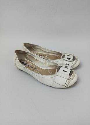 Кожаные балетки, туфли tamaris размер 36 (23,5 см.)