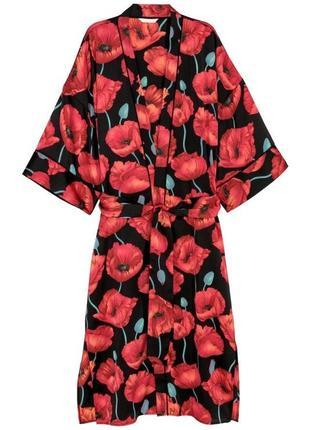 Сатиновая накидка кимоно