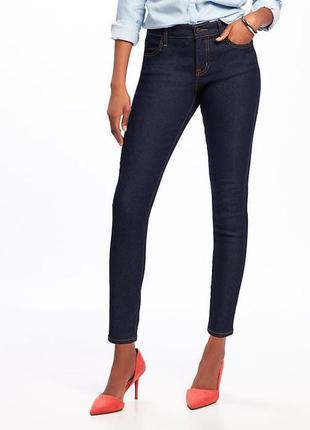 Джинсы-скинни old navy mid-rise super skinny ankle jeans