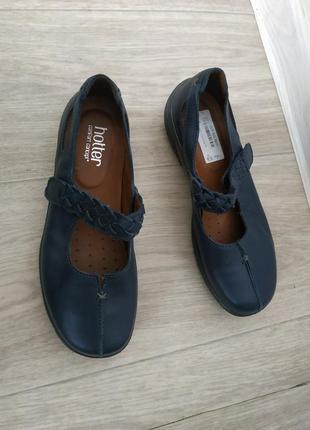 Кожаные мокасины,туфли hotter р.38 кожа