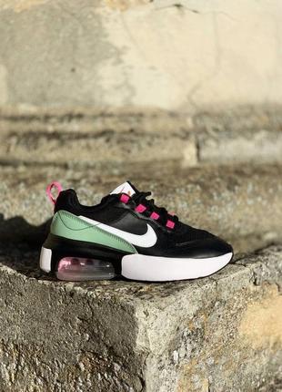 ❤ женские черные кожаные кроссовки  nike air max verona black pink ❤