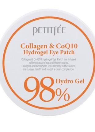 Гидрогелевые патчи для век с коллагеном petitfee collagen & q10 hydrogel eye patch