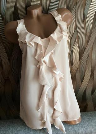 Стильная блуза от topshop размер 12 наш 46-48 смотрите замеры