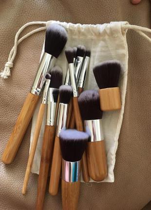 Набор кистей для макияжа 11 шт. в мешочке , видео обзор