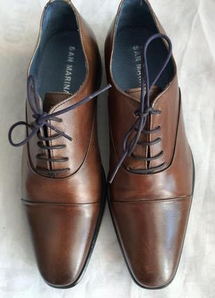 Португальские туфли san marina 42 р. натуральная кожа