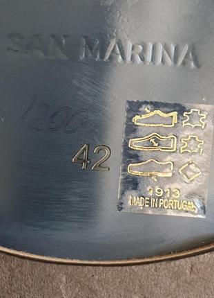 Португальские туфли san marina 42 р. натуральная кожа2 фото