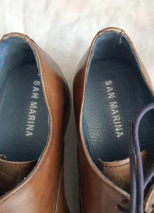 Португальские туфли san marina 42 р. натуральная кожа3 фото