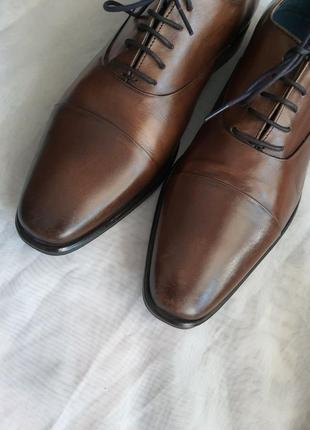 Португальские туфли san marina 42 р. натуральная кожа4 фото