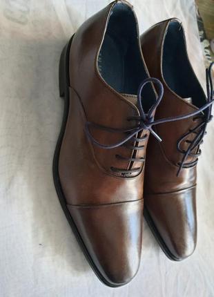 Португальские туфли san marina 42 р. натуральная кожа6 фото