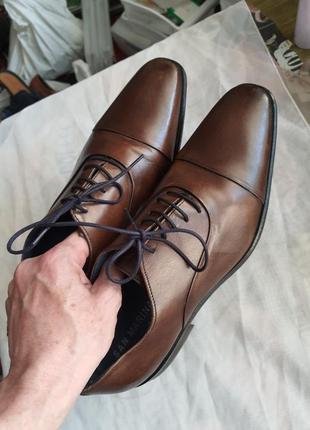 Португальские туфли san marina 42 р. натуральная кожа8 фото