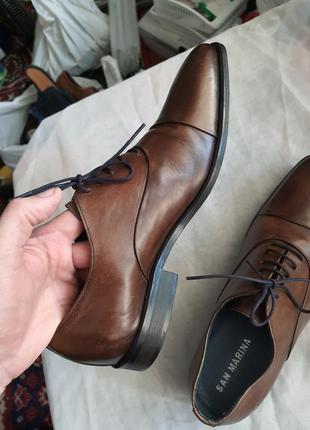 Португальские туфли san marina 42 р. натуральная кожа9 фото