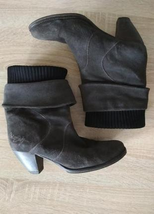 Замшевые ботинки miss sixty
