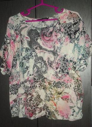 Шикарная легкая блузка french connection, размер 14/42.