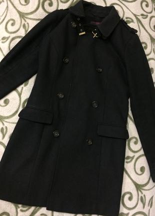 Пальто чёрное классическое