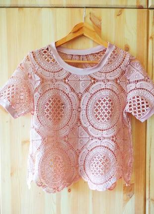 Ажурная летняя блуза