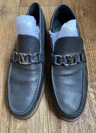 Оригинал мужские туфли лоферы louis vuitton major loafers taiga