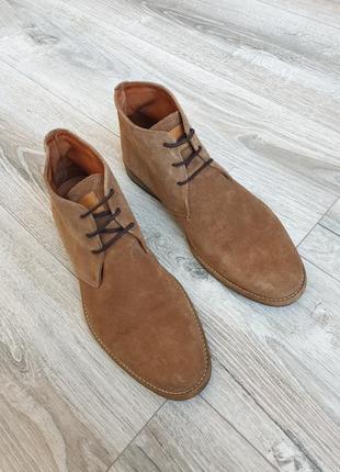 """Качественные замшевые мужские туфли ботинки на шнуровке натуральная замша travelin"""""""