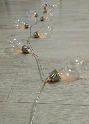 Декоративное освещение лампочки
