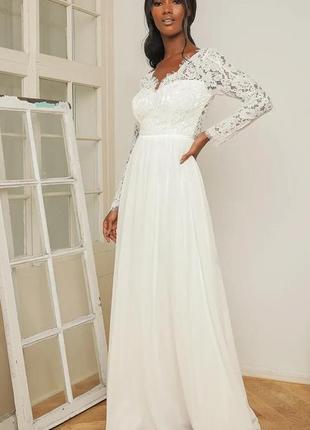 Свадебное платье lulus 44-46 размер