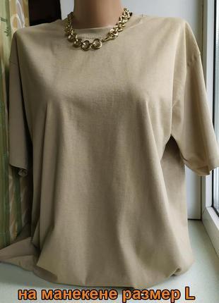 Женская футболка оверсайз хакки базовая классическая хлопковая fruit of the loom3 фото