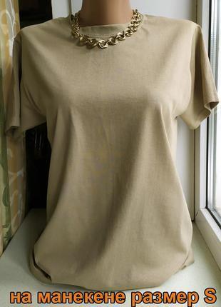 Женская футболка оверсайз хакки базовая классическая хлопковая fruit of the loom4 фото