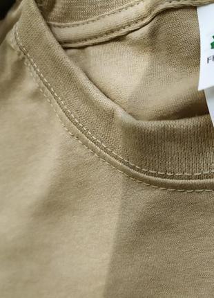 Женская футболка оверсайз хакки базовая классическая хлопковая fruit of the loom6 фото
