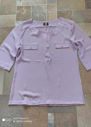 Нарядная блуза нежно лилового цвета