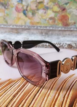 Эксклюзивные брендовые солнцезащитные женские нюдовые прозрачно розовые очки 2021