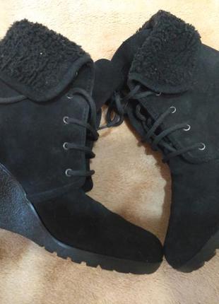 Ботинки ботильйоны кожаные замшевые