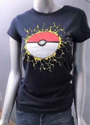 Футболка *pokemon* сша с цветной графикой по переду на 44-46 рр