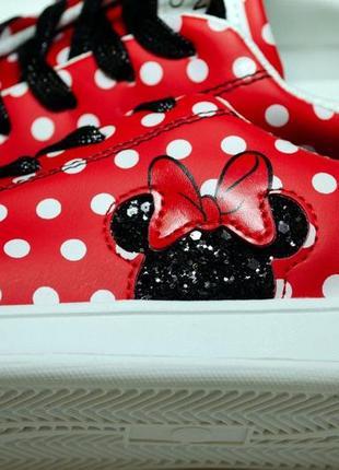 Новые кеды george женские 38 24,5 подростковые красные микки маус мини в горошек кросы
