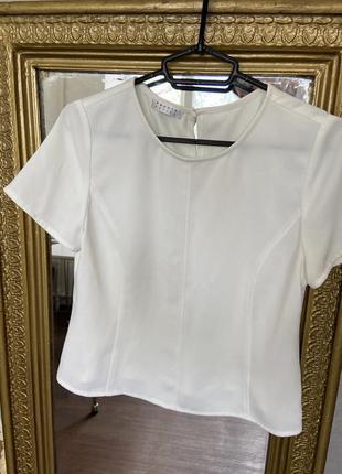 Молочная  блуза, белый топ