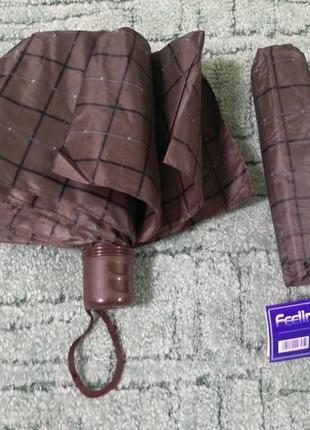 Зонт складной, мини, клетка, всего 24 см в наличии, супер подарок!