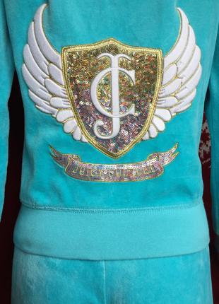 Помпезный спортивный костюм juicy couture гламур велюр оригинал рост 155