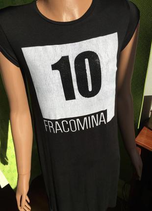 Стильное длинное платье fracomina стразы италия оригинал рост 155