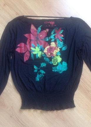 Блуза с цветочным принтом2 фото