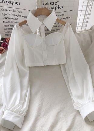 Блузы с воротником