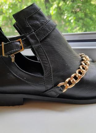 Стильные туфли/полуботинки, кожа