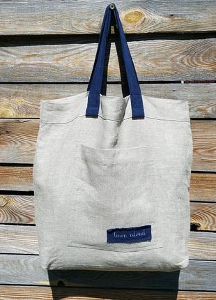Эко сумка 100% лен высокого качества натуральная