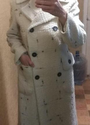 Пальто классика белое