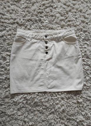 Белая джинсовая юбка 16 р от tree people