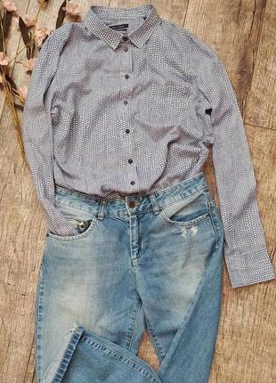 Marc o'polo рубашка женская из органического хлопка легкая летняя прямая
